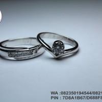cincin nikah emas putih 9k AuAg  couple