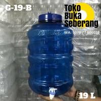 Galon air Guci Keran 19 liter (G-19-B) / Galon Minum / Dispenser Besar
