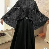 Termurah fashion terkini A130418 hijab syari MAXI ANGGI ASMARA black