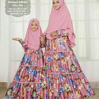 Termurah fashion terkini A130418 set hijab syari COUPLE Mom Kid