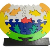 Mainan Kayu Edukasi Puzzle Aquarium