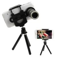 Lensa Pembesar Kamera buat HP smartphone 8x Zoom + tripod Telescoop