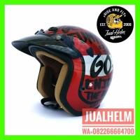 SPECIAL Helm Retro Helm Classic Helm Bogo Helm Vespa Helm Ava Motif L