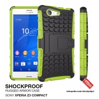 Hardcase Hybrid Stand Cover Case Casing HP Sony Xperia Z3 Compact Mini