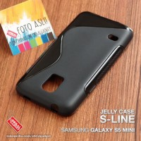 Softcase TPU S-Line Black Cover Case Casing HP Samsung Galaxy S5 Mini