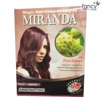 Miranda Magic Hair Color Shampoo Wine Red (Cat Rambut Natural) 30ml