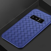 Samsung Galaxy J4 2018 J 4 Woven like Leather soft case back cover HP
