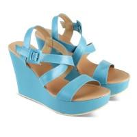 Harga wedges distro biru keren wedges 8 cm wedges keren sepatu | Hargalu.com