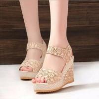 Terbaru Murah Wedges cantik dan trendy Sandal Sepatu wanita wedges Hi