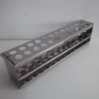 best seller Rak Tabung Reaksi Stainless Steel 24 lubang Rak Test Tube