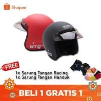PROMO PRODUK TERLARIS [COUPLE HELM DEWASA] WTO Helmet Retro Bogo Pet -