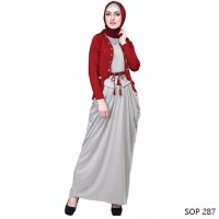 jual Baju Muslim Wanita Model Gamis Cocok untuk lebaran