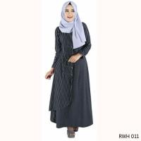 terbaru Baju Gamis Bahan Rayon garis