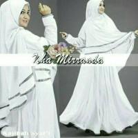 Syari Najibah Syar'I White Baju Muslim Wanita Warna Putih Gamis Syari