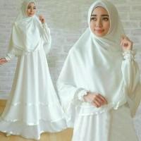 Syari Anggun Syari White Gamis Busui Syari Warna Putih Busana Muslim