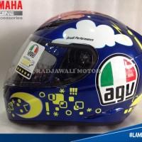 (Full Face) HELM AGV Rossi Face K3 (OFFICIAL) SIZE M ASLI YAMAHA