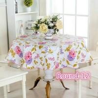 taplak meja taplak meja bundar - taplak bulat - alas meja taplak bunga
