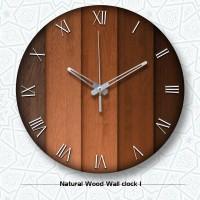 Jam Dinding Kayu Unik Artistik - Natural Wood 1