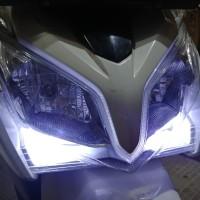 Jual Lampu Senja Led Vario 125 Old Nmax Aerox Crystal Putih Terang 2 Pcs Murah