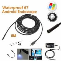 Kamera Endoscope Android Kabel 5M 7mm 6Led Waterproof IP67 Mini Camera