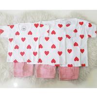 Setelan Anak Love Size M Lucu Baju Pakaian Bayi Grosir Murah