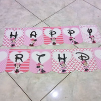 Banner HBD Minnie Mouse
