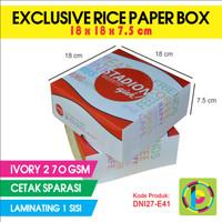 Dus Nasi Full Color + Laminating Exclusive Rice Paper Box DNI27-E41