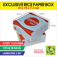 Dus Nasi Full Color + Laminating Exclusive Rice Paper Box DNI30-E42