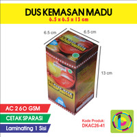 Dus Kemasan Madu / Herbal / Obat Full Color + Laminating