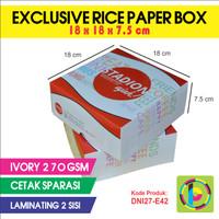 Dus Nasi Full Color + Laminating Exclusive Rice Paper Box DNI27-E42