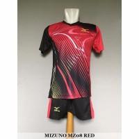 Mizuno MZ08 Red Baju Kaos Celana Setelan Voli Volly Jersey