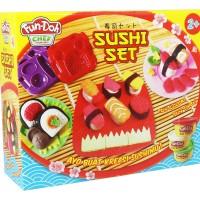 FUN DOH SUSHI SET Mainan Lilin Edukatif + Cetakan SNI Murah