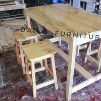 Harga meja makan set kayu jati belanda 4 kursi | WIKIPRICE INDONESIA
