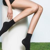 Cotton Velvet Socks Black