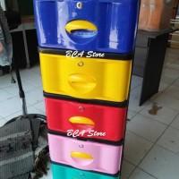 Jual Lemari Plastik Napolly 5 Susun 5 Laci Warna Warni Murah