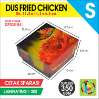 Dus Fried Chicken Dupleks 350 GSM Full Color + Laminating