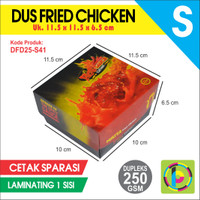 Dus Fried Chicken Dupleks 250 GSM Full Color + Laminating