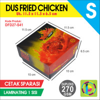 Dus Fried Chicken Dupleks 270 GSM Full Color + Laminating