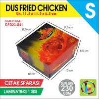 Dus Fried Chicken Dupleks 230 GSM Full Color + Laminating