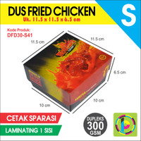 Dus Fried Chicken Dupleks 300 GSM Full Color + Laminating