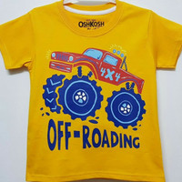Baju kaos karakter anak laki-laki oshkosh off roading 7-10