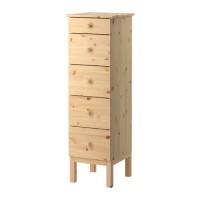 lemari pakaian IKEA TARVA Lemari 5 laci Kayu Pinus Solid, 39x127 cm