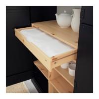 lemari pakaian IKEA ARKELSTORP Lemari bufet kayu pinus solid, hitam