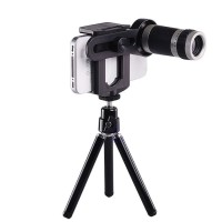 Lensa Pembesar Kamera All Type HP Android 8x Zoom + Tripod / tongsis