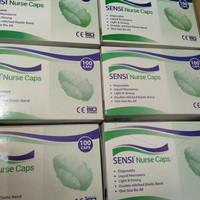sensi nurse caps/masker kepala/nurse caps/isi 100 /gojek /grab