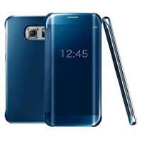 Original SAMSUNG Clear View Galaxy S7 Edge - Blue