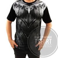 Jual Kaos BLACK PANTHER 3D WAKANDA baju DISTRO koko pria superhero MARVEL Murah