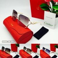 Fullset CR 2081 kacamata wanita frame motif musang fulset cartier 8120