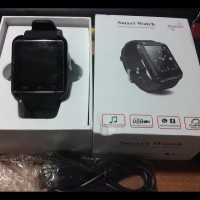 (Promo!!) Smartwatch U Watch U8 - Black Smart Watch - Hitam !