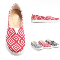 Jual Pluvia - Sepatu Flat Shoes Kets Slip On Wanita Kanvas Murah HC15 Murah